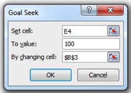 Pricing analyst tools: Goal Seek Excel function